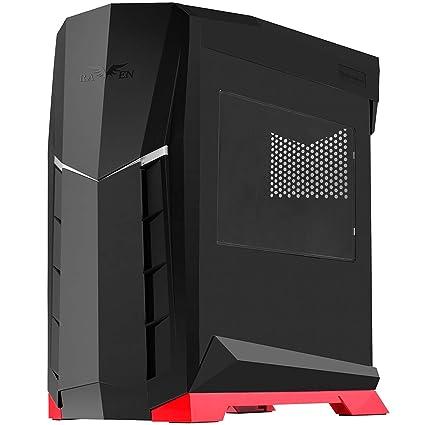 Silverstone SST-RVX01BR-W - Carcasa de Ordenador para Juego Raven Midi Torre ATX, con Ventana, Negro Rojo
