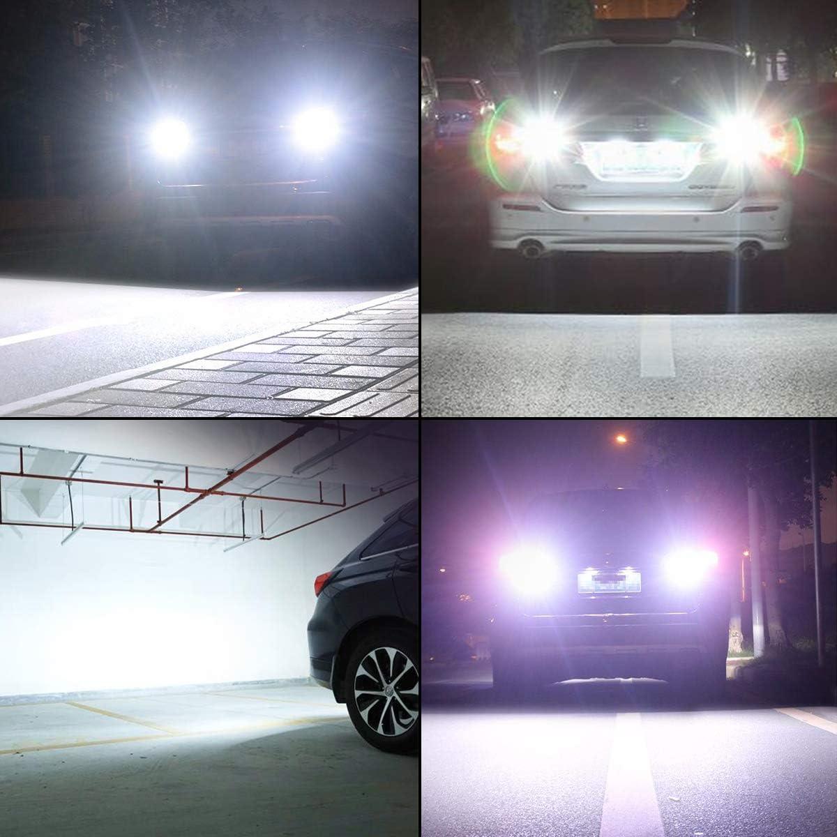 3156 3057 4114 4157 3056 LED Light Bulbs White 3157 LED Reverse Light Bulb 1800 Lumens 3157 LED Car Bulb for Backup Reverse Lights Tail Signal Daytime Running Parking Light 6000K White 3157 LED Bulbs