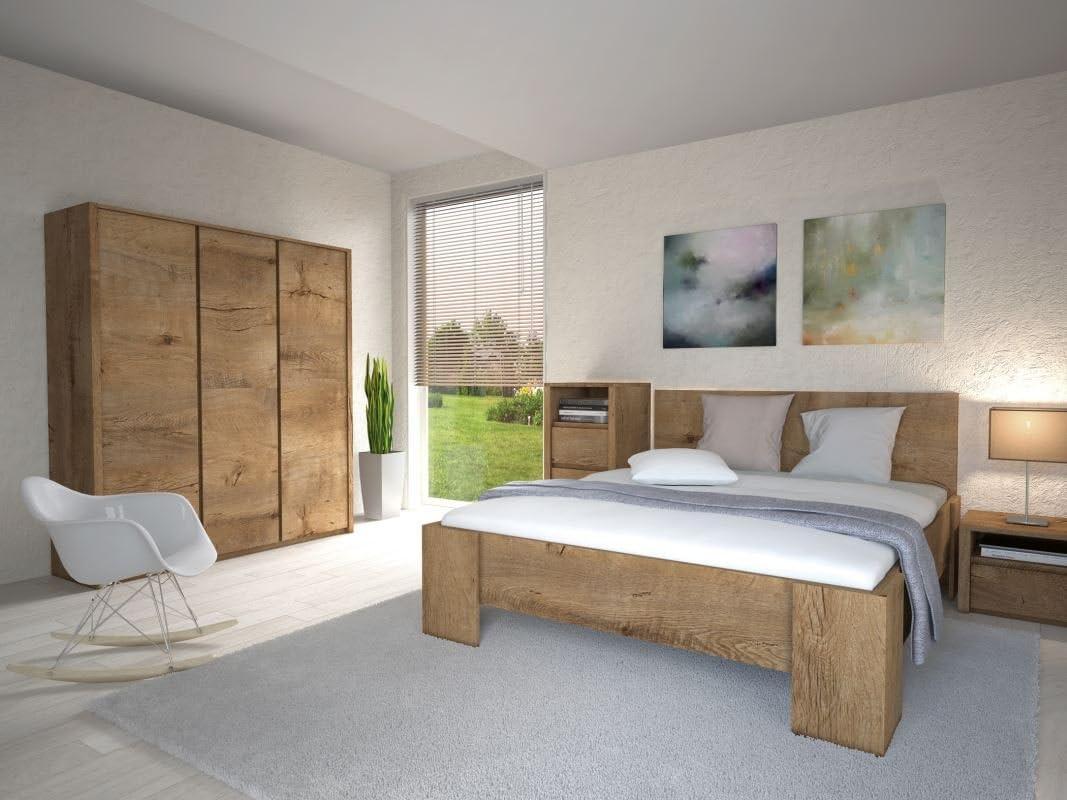 Schlafzimmer Komplett - Set B Selun, 11-teilig, Farbe: Eiche ...