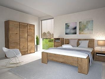 Schlafzimmer Komplett - Set B Selun, 4-teilig, Farbe: Eiche ...