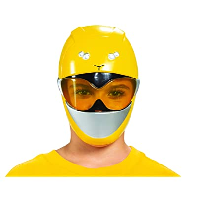 Disguise Yellow Ranger Beast Morpher Kids' Half Mask: Toys & Games