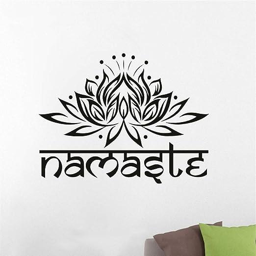 pegatina de pared 3d etiqueta de la pared Pared Namaste Yoga ...