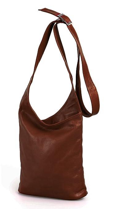 77e12a3bb9027 MIO leichte echt Leder Schultertasche Damen Umhängetasche Frauen Handtasche  Crossover Bag braun