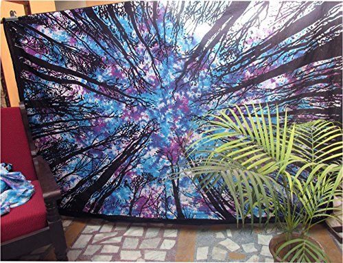 Future Handmade Tapestry Twin Tie Dye Indian Hippie Mandala Jungle Throw Tapestry Wall Hanging Bohemian Bedspread