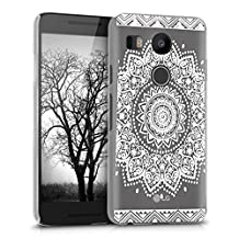 kwmobile Crystal Case for LG Google Nexus 5X with Design flower - transparent Protection Case Cover clear in white transparent