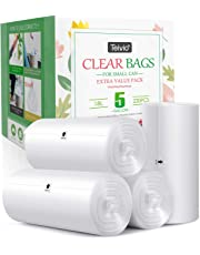 4 Gallon 200 Counts Strong Trash Bags Garbage Bags by Teivio, Bin Liners, for home office kitchen, Clear