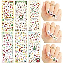 Christmas New Year Theme Nail Art Decal Water Slide Tattoo Transfer-Santa, Reindeer, Snowflakes & Many More-Pack of 6//Noël Nouvel An Thème Nail Art Decal Water Slide transfert de tatouage-Santa,renne,flocons de neige et beaucoup plus-pack de 6