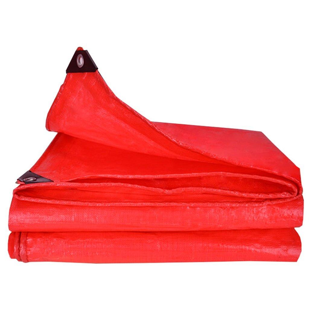 WSGZH Rote Polyäthylenplanen-Boden-bedeckte Zelt-Auflage Camping Und Im Freien - 100% Wasserdicht Und UVschutz