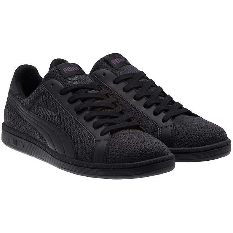 PUMA Mens Smash Knit Fashion Sneaker 8.5 DM US  Black