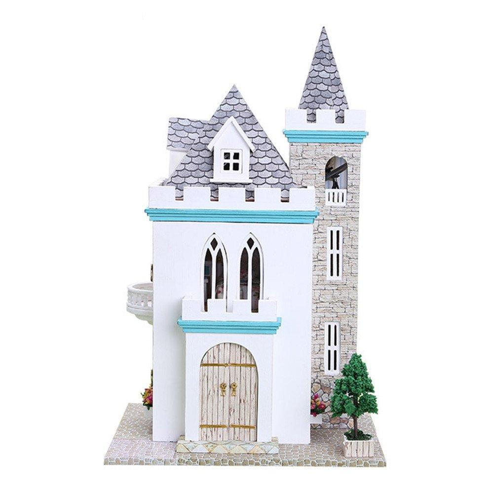 Oshide Puppenhaus 1 Stück DIY puppenhaus mit Licht,Wünderschön gestaltetes Modell Kreativ Geburtstag Weihnachts Geschenk (12 ) B07FBB46MH Häuser Billiger als der Preis | Üppiges Design