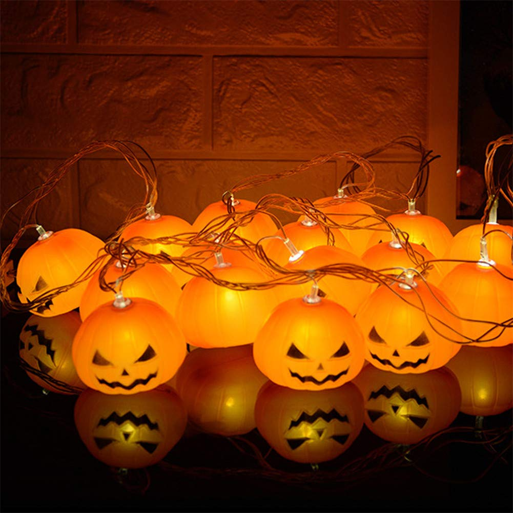 LL Battery Operated Halloween Pumpkin LED String Lights Halloween Holiday Christmas Party Garden Decoration Led Light