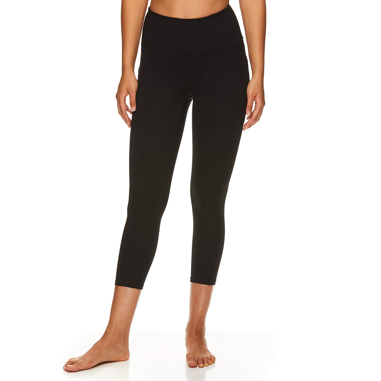 27090f2c103571 Amazon.com: Gaiam Women's High Rise Waist Capri Yoga Pants - Performance  Spandex Compression Leggings: Clothing