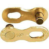 KMC Uniseks - volwassenen 10R Ti-N kettingsluiting voor 10-voudige kettingen, goud,
