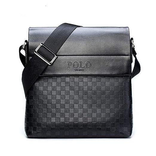 d719e460de55 Image Unavailable. Image not available for. Color  Fashion Men Polo Bags  Leather Computer Briefcase Shoulder ...