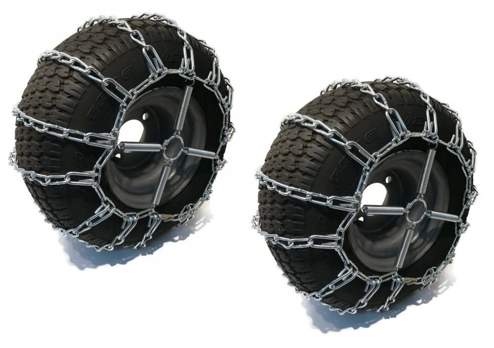 2 Link TIRE CHAINS & TENSIONERS 20x10x8 for John Deere Lawn Mower Tractor Rider by The ROP Shop