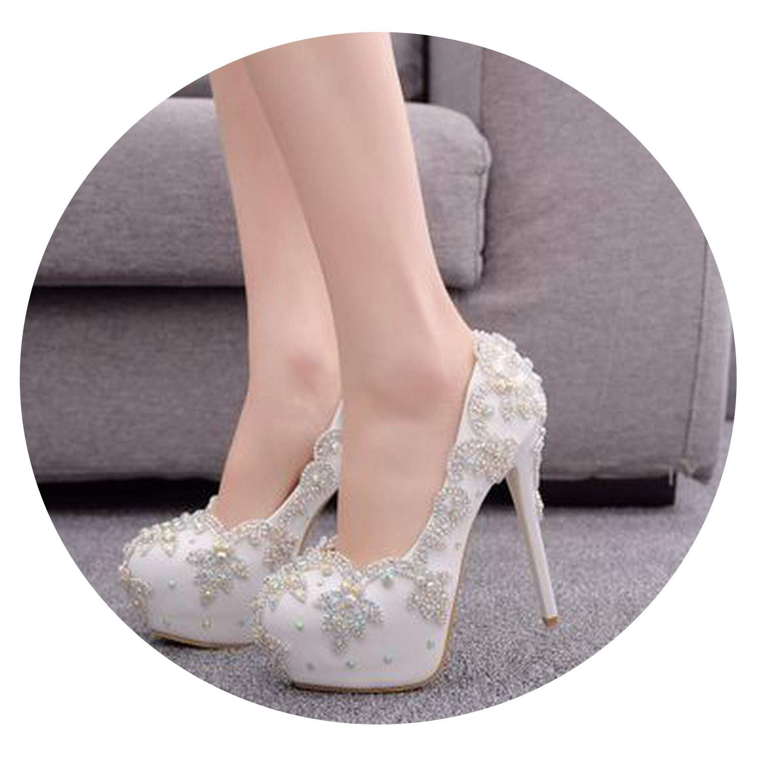 Multi colorful Dream- Sexy 14Cm Super High Heel Single Stiletto High Heels Temperament Elegant Rhinestone Wedding shoes