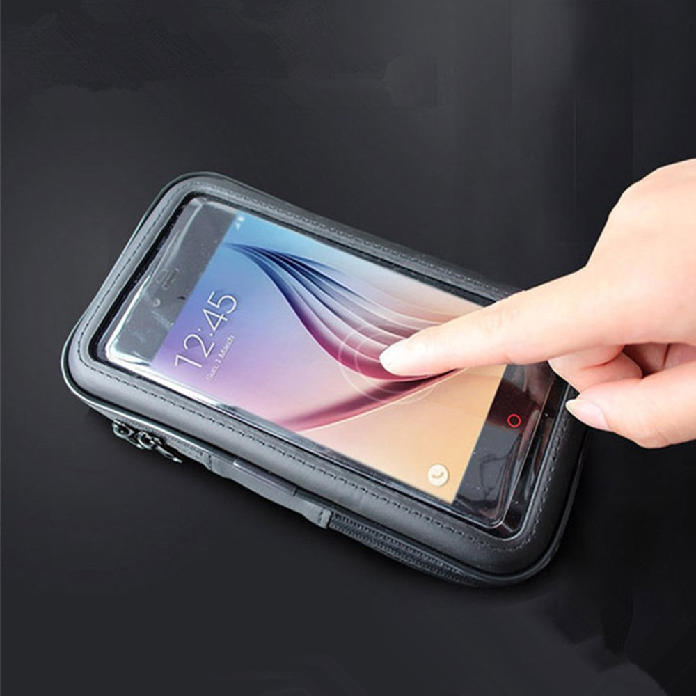 for Apple iPhone 8 Plus /& 7 Plus /& 6S Plus 5.5 Universal Motorcyle Scooter Electric Car Rearview Mirror Mount Holder Stand Bag Phone GPS Cycling Waterproof Case GuluGuru MotoCase-6Plus