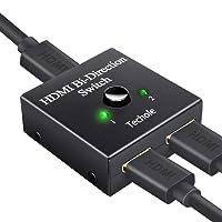 Commutateur HDMI, Techole Switch HDMI Répartiteur Bidirectionnel 2 Entrées vers 1 Sortie ou 1 Entrée vers 2 Sorties, Prend en Charge 3D 1080P 4 K, HDCP Passthrough-HDMI Switcher pour HDTV/Lecteur Blu-ray/DVD/DVR/Xbox etc