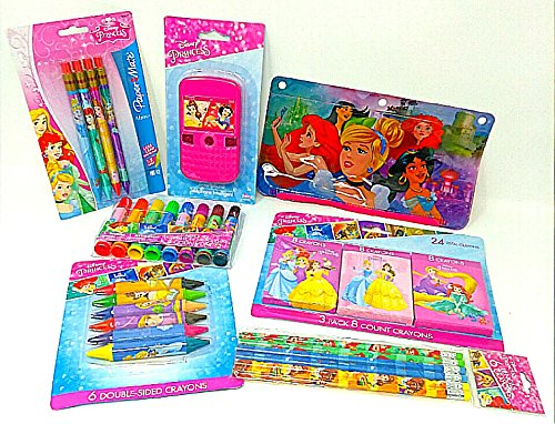 Back to School Toddler Pre-school Elementary School Classroom Teacher Supplies Supply Kit Disney Snap Ins Princess Little Mermaid Snow White Rapunzel Dolls Mechanical Pencils FANCY 7 Piece (Disney The Little Mermaid Sparkle Birthday Banner)