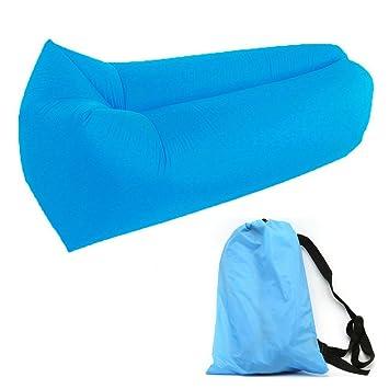 GuDoQi Sofá inflable de 190T Nylon portátil camas de aire impermeable sofá sofá cama para viajar, acampar, playa, parque, patio trasero: Amazon.es: Deportes ...