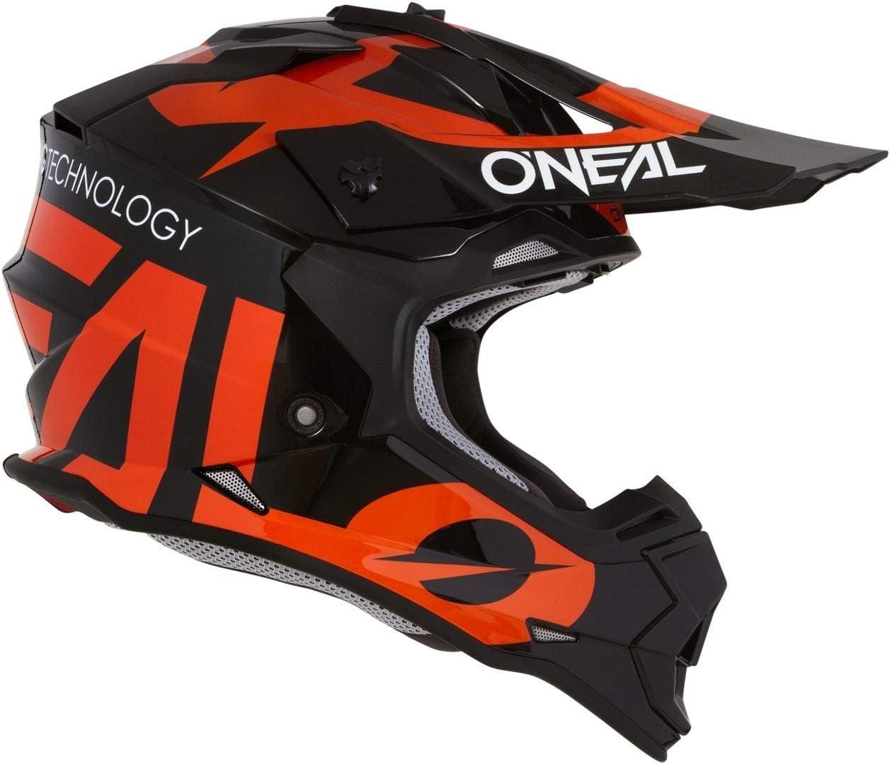 Oneal 2SRS Youth Helmet Slick Black//Orange Helmet