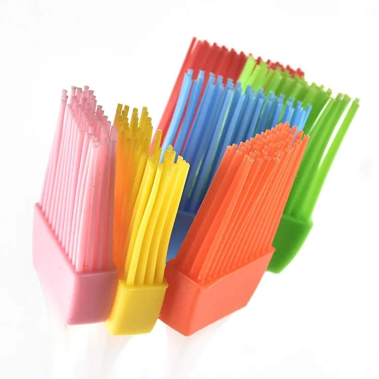 Set di 8 pennelli da pasticceria in silicone antiaderenti per cottura e barbecue resistenti al calore