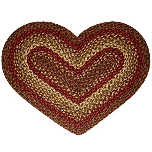 IHF Home Decor Heart Shaped Area Rug | Cinnamon - Jute Fiber Rugs for Living Room, Bedroom, Dormitory - Diameter 20