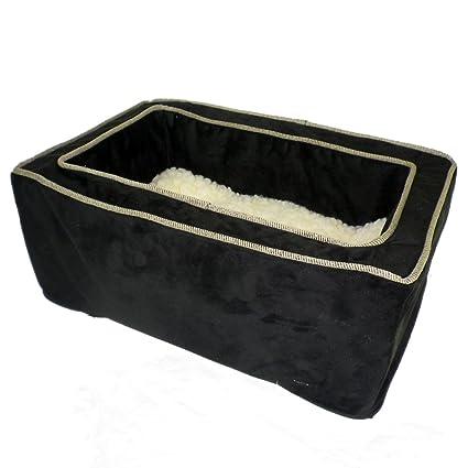 Snoozer Luxury Console Pet Car Seat Black Herringbone Small