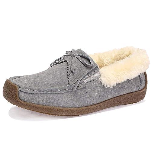 Mocasines de Gamuza sintética para Mujer Zapatillas de Deporte Mocasines Mocasines de Invierno: Amazon.es: Zapatos y complementos