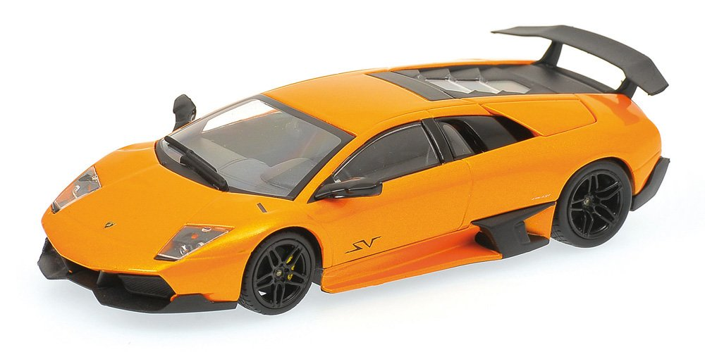 Minichamps 400103942 - Lamborghini Murcielago LP 670-4 SV, Maßstab: 1:43, metallic Orange