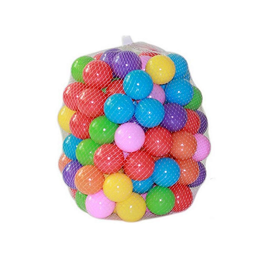 Kaptin 5.5cm Soft Plastic Ocean Ball,Colorful Ball Fun Ball Kids Ball Swim Pit Toy Ball Tent Toddler Ball (100pcs)