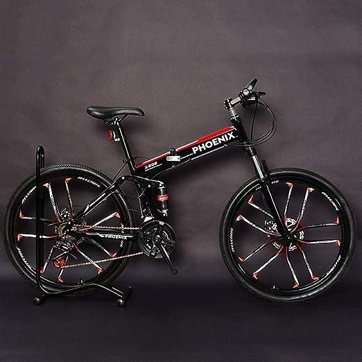 QIMENG Plegable Bicicleta De Montaña Adulto Bicicleta Montaña 26 ...