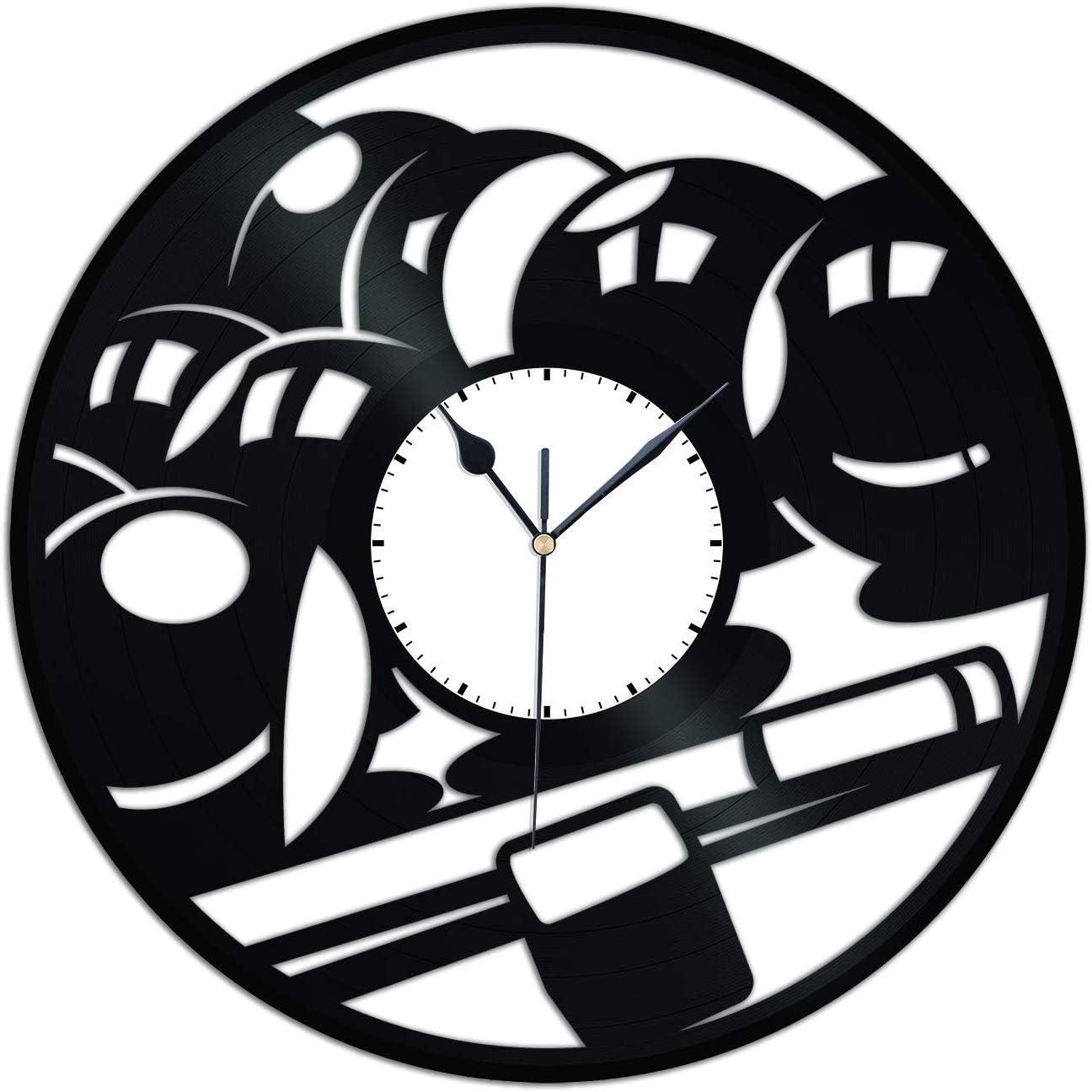 Mesa de Billar Juego de Mesa Reloj de Pared de Vinilo Amantes de ...