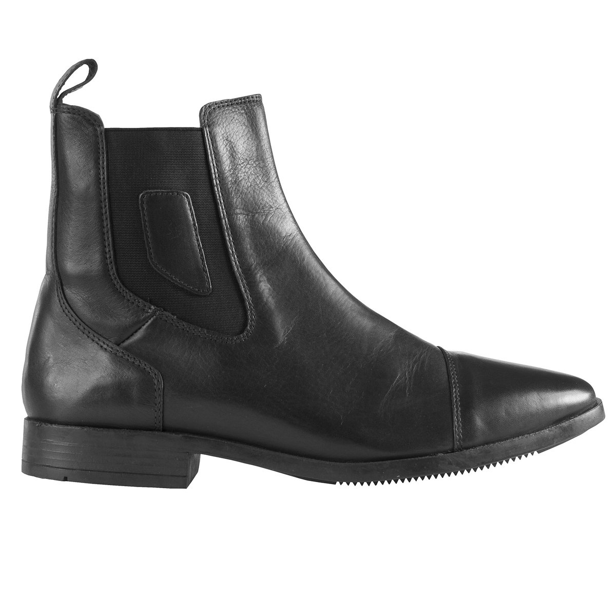 Horze Jodhpur Pull-On Boot with Steel Toe B00CUHWPIG 9.5|Black