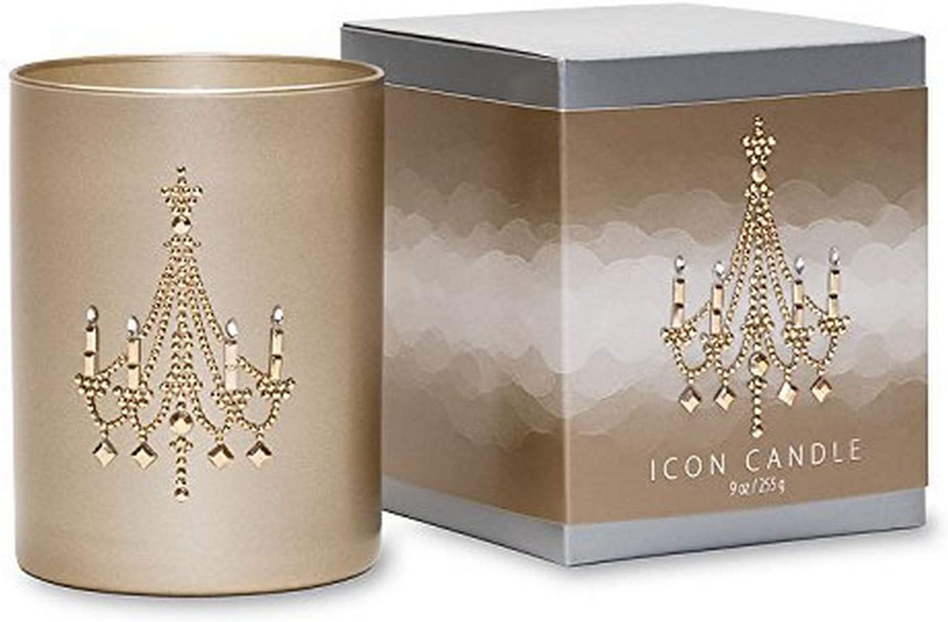 9-Ounce Gold Primal Elements Chandelier Icon Candle