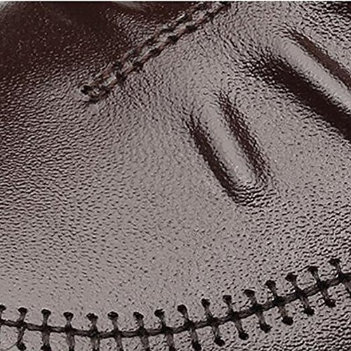 Stile Casual Scarpe Con Tomaia 42 A E QSYUAN Pelle In E Traspirante Tonda Scarpe In Brown Pelle Da Antiscivolo Uomo Business Confortevole Testa In Piatte Nuove Pizzo In qHTwpHRX