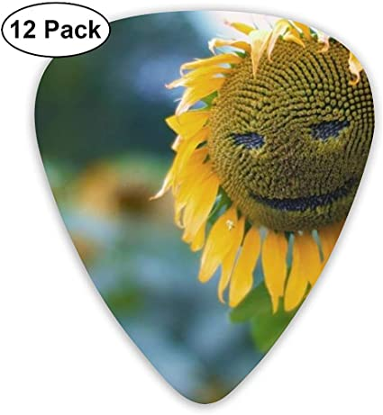 Sunflower Smiley Púas de guitarra coloridas adecuadas para ...