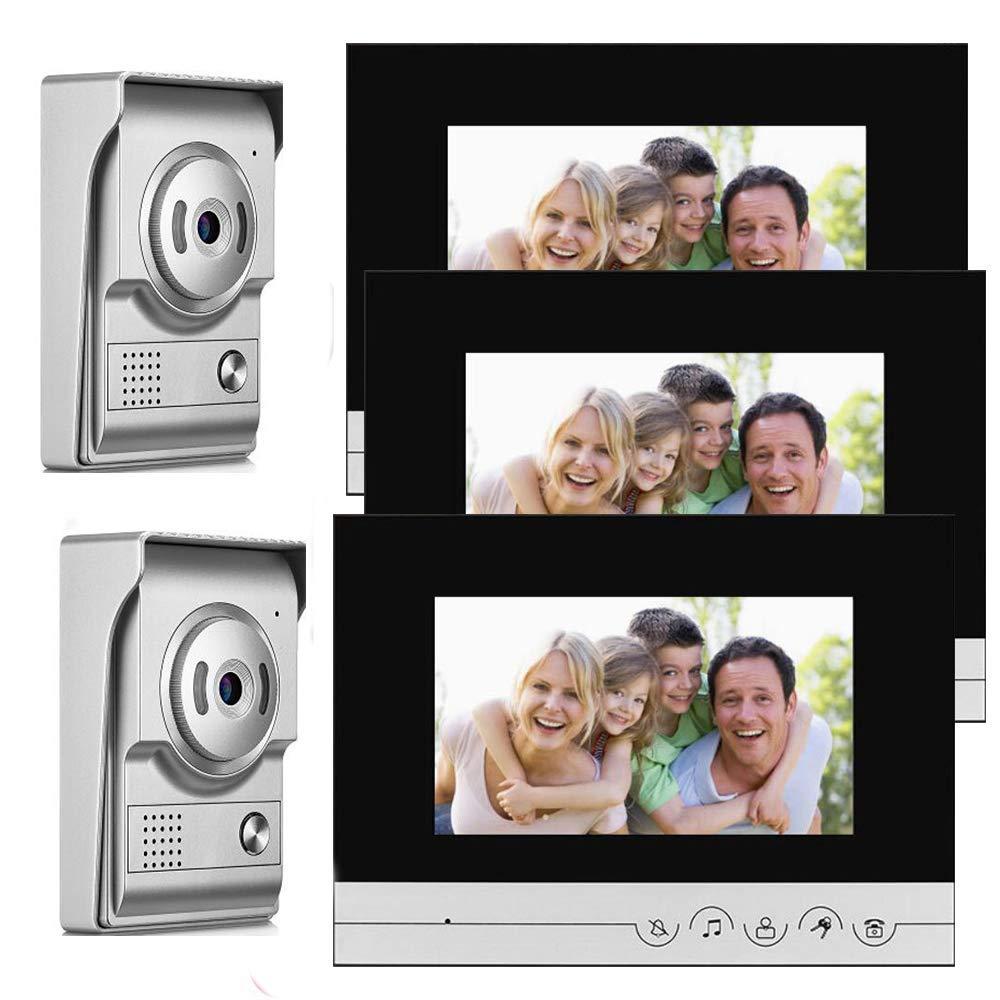 JINPENGPEN 7-inch Smart Video doorbell Remote intercom Access Control System HD Infrared Camera,Silver