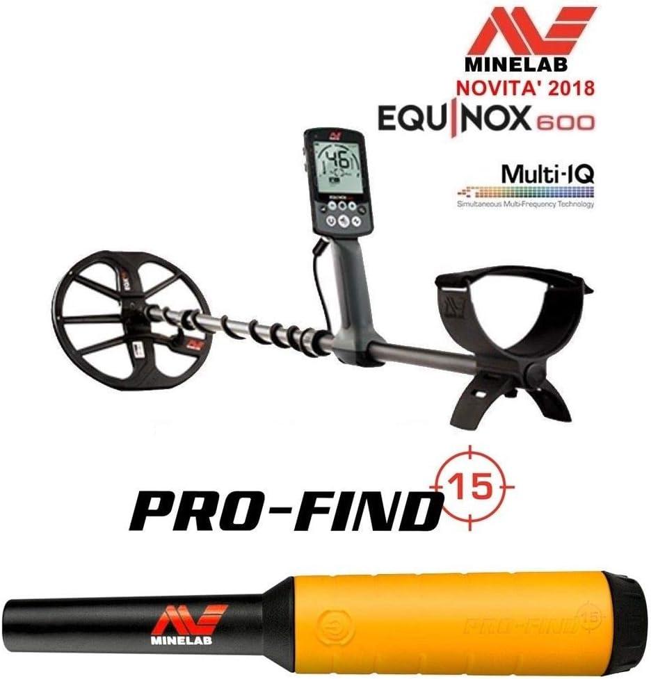 MINELAB - Detector de Metales Equinox 600 + PROFIND 15: Amazon.es ...