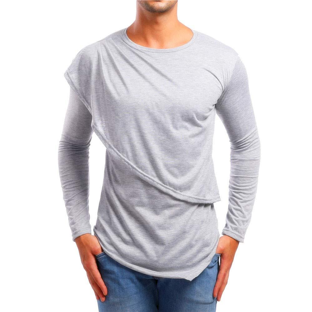 Yvelands Mens Patchwork Camisa Personalidad Top Slim Fit Manga Larga Blusa sólida Prendas de Abrigo Chaquetas y Abrigos Outwear: Amazon.es: Ropa y ...