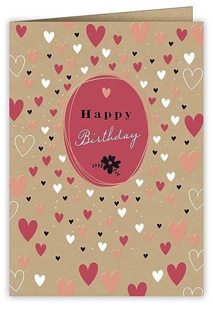 Tarjeta de felicitación de cumpleaños de cobre con diseño de ...