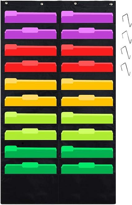 scuola o casa 10 Pockets JOTOM Storage Pocket chart cartellina da appendere alla parete tasca organizer grafico a cascata per ufficio