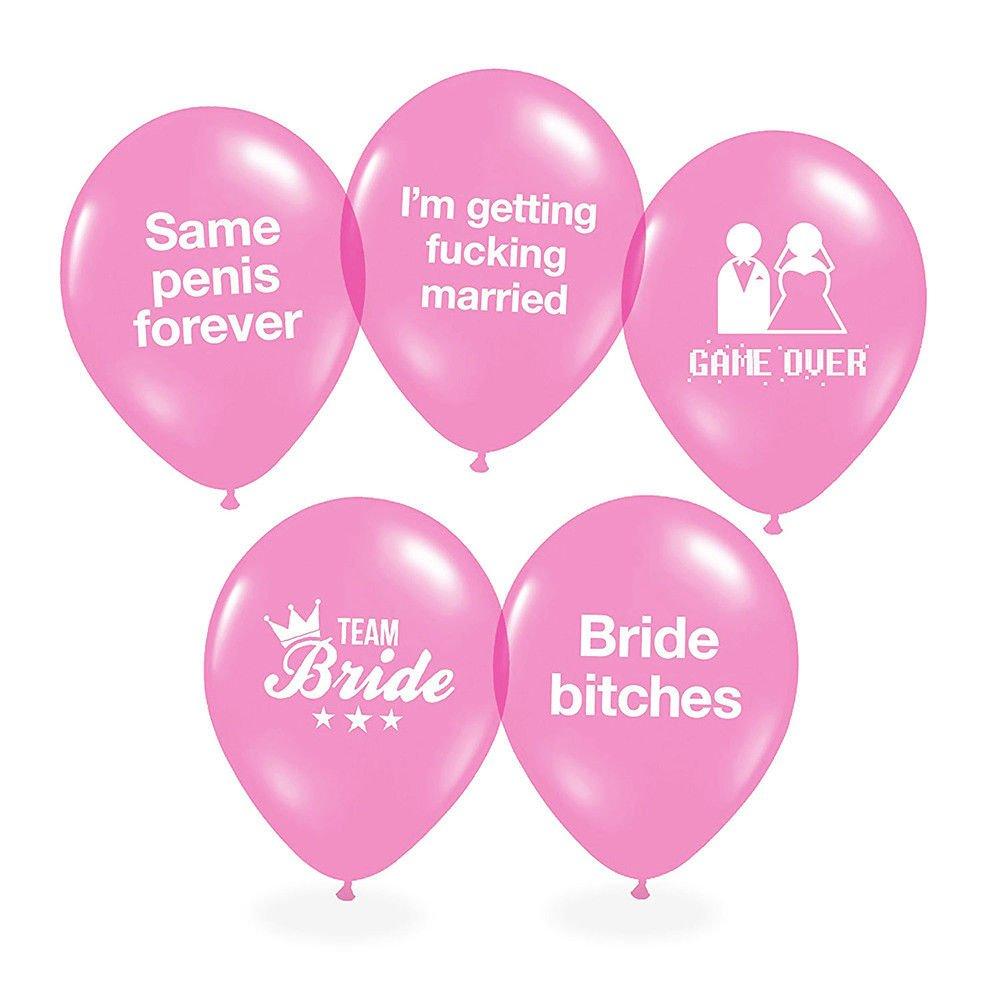 5//10//20pcs Same Penis Forever Balloon Team Bride Latex Balloon Hen Party Decor