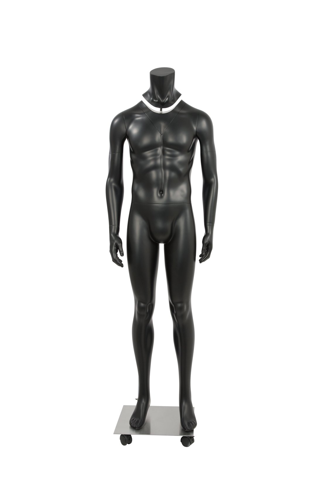 Newtech Display MAM-GHOSTFULL/BLK Photography Ghost Male Mannequin, Full Body, Matte White