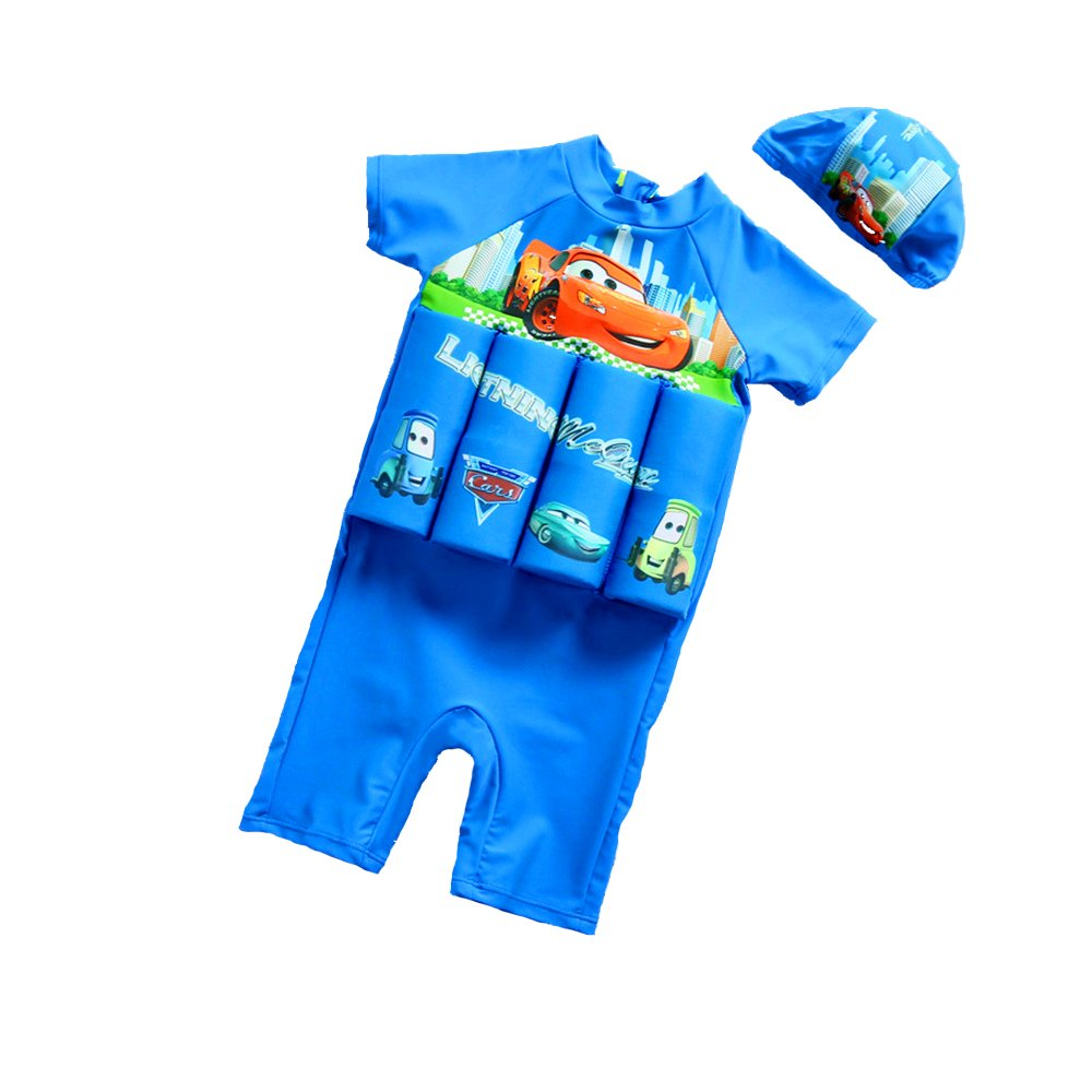 Jasooo Buoyancy Swimsuits with Adjustable Buoyancy for Baby Boys& Girls with Hat