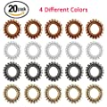 Elastic Hair Ties Hair Rubber Bands No Damage Traceless Hair Ring Rope Clear Plastic No Crease Spiral Twist Ponytail Holders Stretchy Hair Coil Telephone Cord Set Styling Accessories 20 Pack