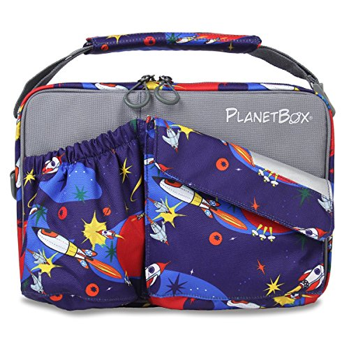 PlanetBox ROVER Eco-Friendly Stainless Steel Bento Lunch Box with 5 Compartments for Adults and Kids (Rockets Carry Bag with Rockets Magnets) by PlanetBox (Image #3)