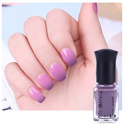 aeb8b3c5b7 Nacido Pretty 1 botella 6 ml térmica cambio de color de uñas polaco Peel Off  polaco