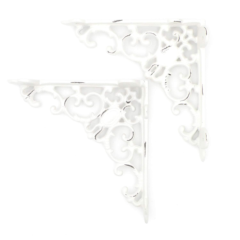 hierro fundido color blanco envejecido Juego de estantes para pared dise/ño g/ótico elbm/öbel.de