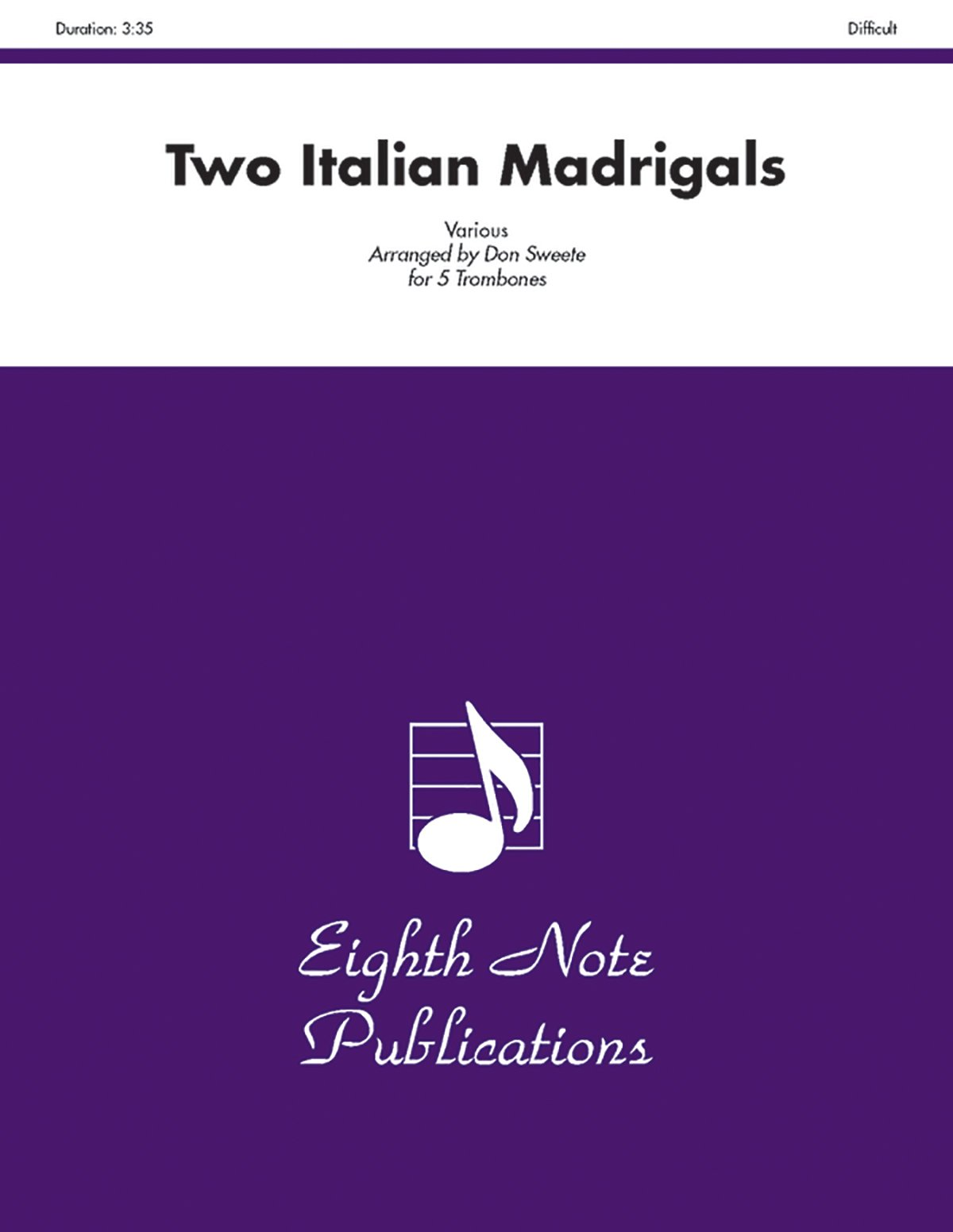 Two Italian Madrigals (Score & Parts) (Eighth Note Publications) PDF